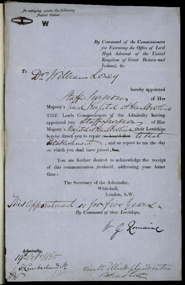 Appointment to Haulbowline