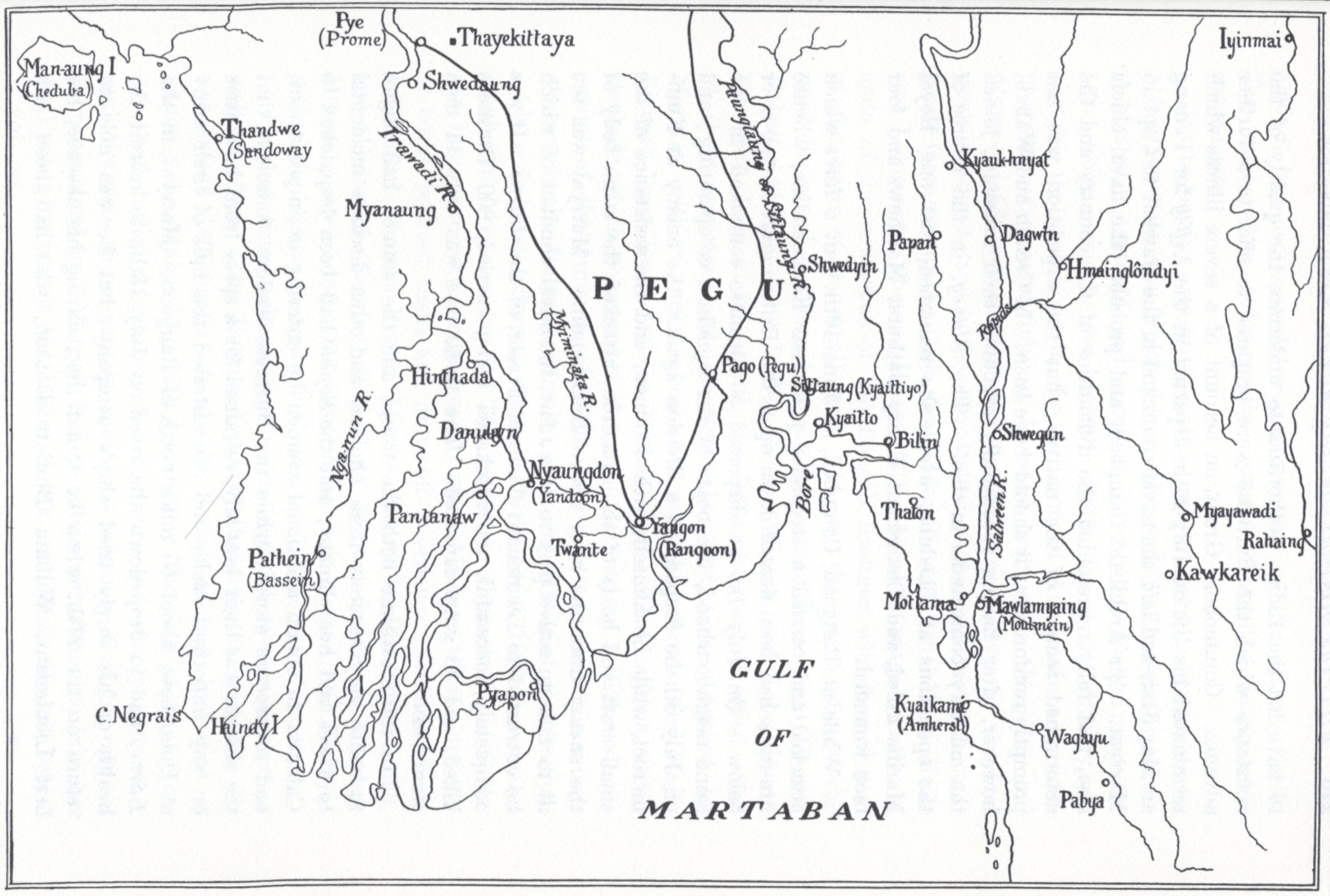 sketch map of the scene of operations, from p. 239